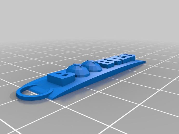 boobies吊坠 3D打印模型渲染图