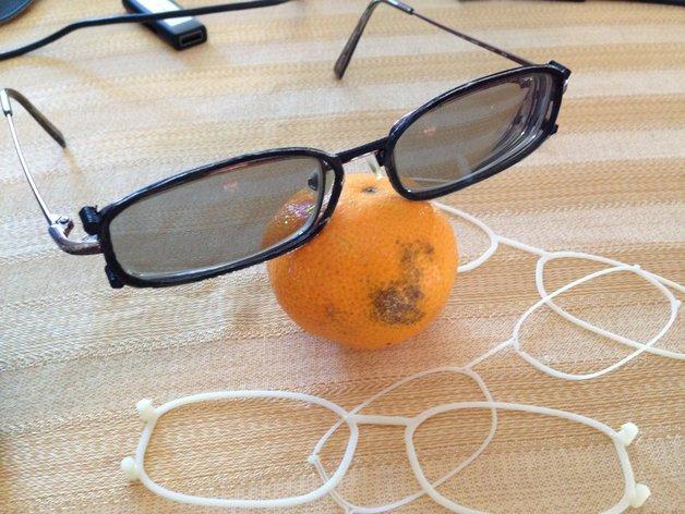 3D眼镜 眼镜框 3D打印模型渲染图