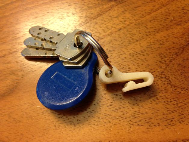 钥匙圈挂钩 3D打印模型渲染图