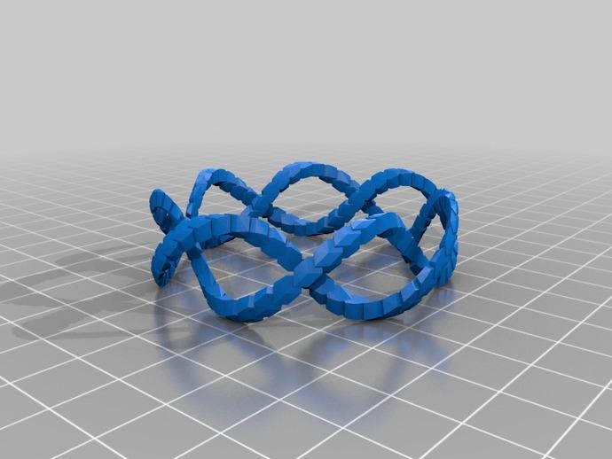 螺旋 手镯 3D打印模型渲染图