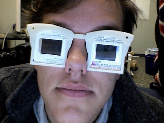 幻灯片眼镜 3D打印模型渲染图