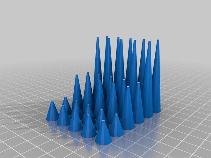 铆钉手镯 3D打印模型渲染图