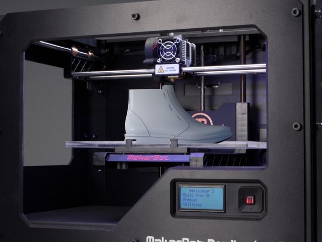 高帮鞋 3D打印模型渲染图