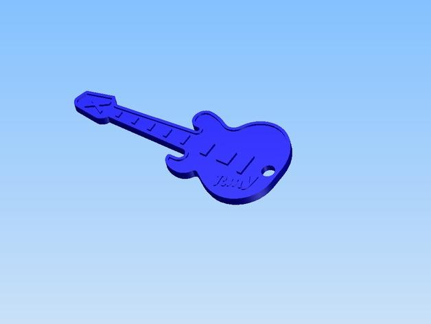 吉他 钥匙坠