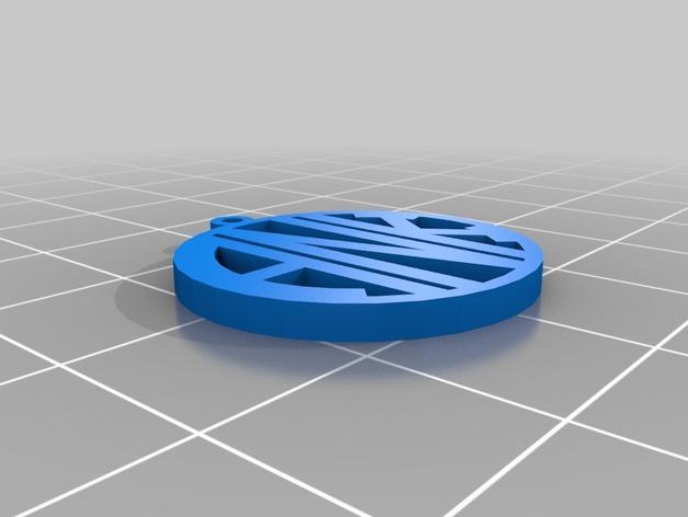 ANK 字母吊坠 3D打印模型渲染图