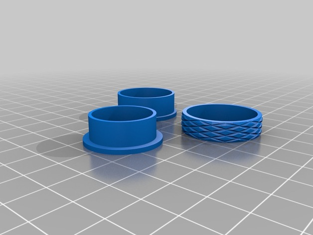 几何雕花 戒指 3D打印模型渲染图