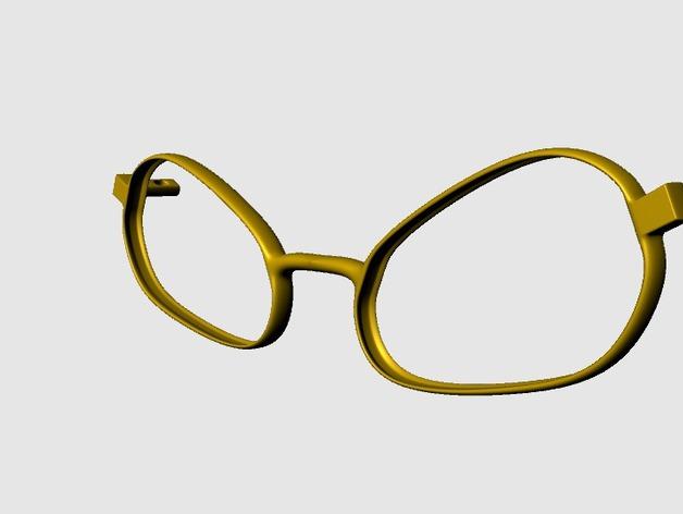BEE CALGARA眼镜 3D打印模型渲染图