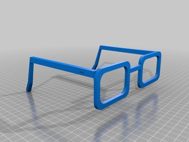 CHARGERS眼镜 3D打印模型渲染图