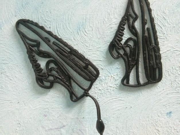 Nike Air Max 鞋子吊坠 3D打印模型渲染图