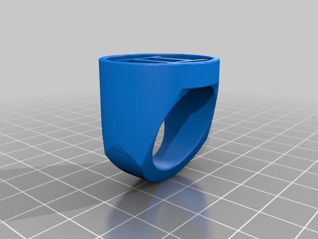 双子座指环 3D打印模型渲染图