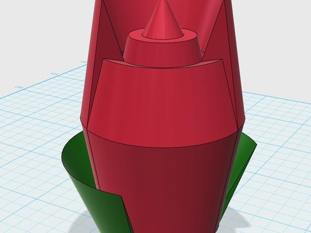 衣领针 3D打印模型渲染图