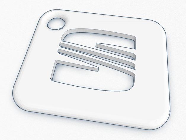 座椅钥匙链 3D打印模型渲染图