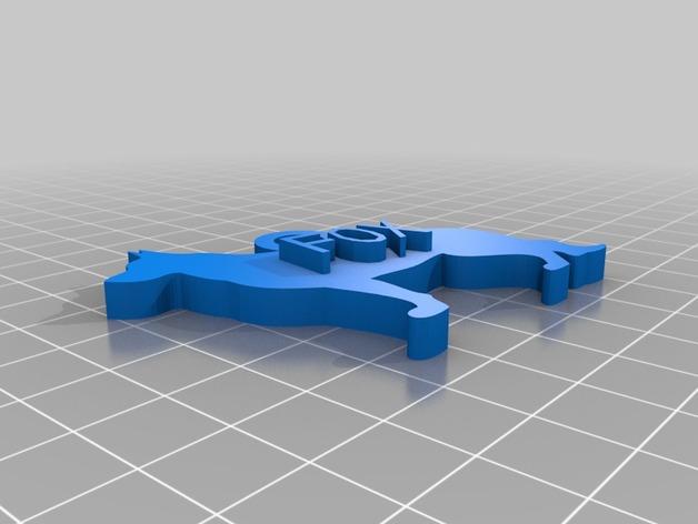 德国牧羊犬 挂饰 3D打印模型渲染图
