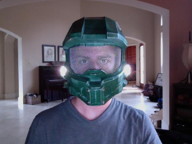 halo 4头盔 3D打印模型渲染图