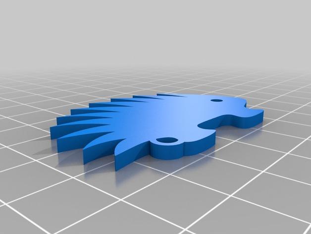 豪猪 挂件 3D打印模型渲染图