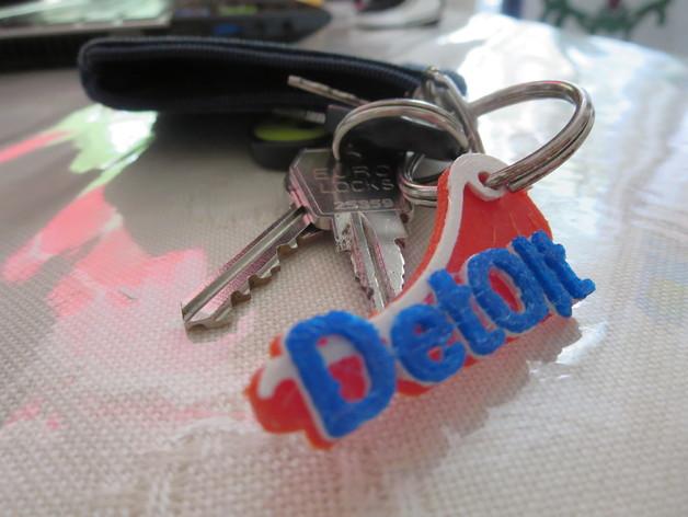 钥匙标签 3D打印模型渲染图