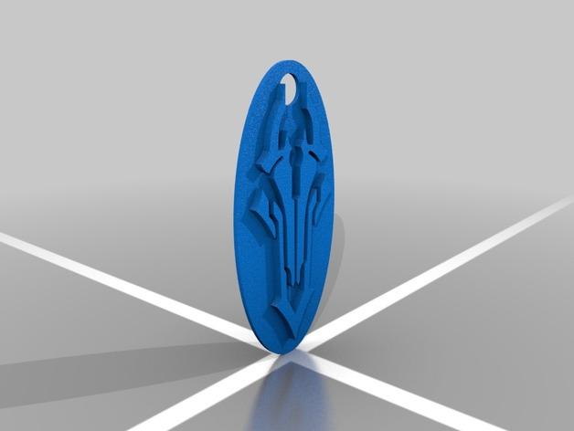 darksiders暗黑血统标志 钥匙扣 3D打印模型渲染图