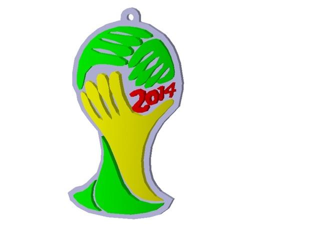 世界杯标志 钥匙坠