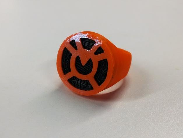 橙灯军团 戒指 3D打印模型渲染图