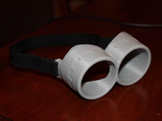 小黄人眼镜 3D打印模型渲染图