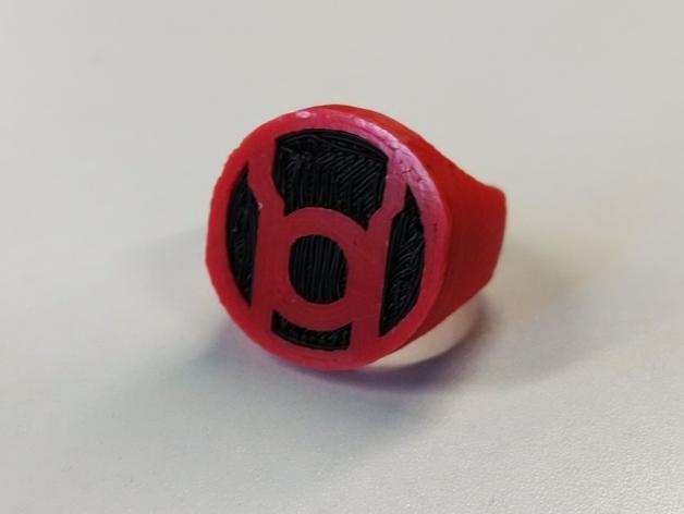 红灯军团 戒指 3D打印模型渲染图