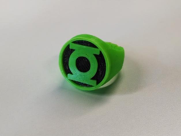 绿灯军团 戒指 3D打印模型渲染图