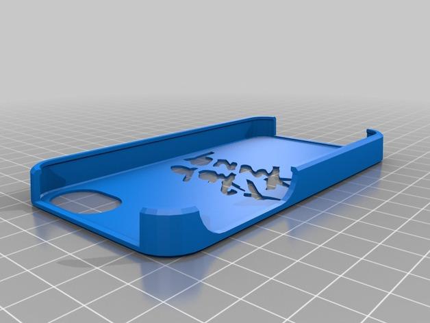 蠢朋克乐队标志iphone 4s手机保护套 3D打印模型渲染图