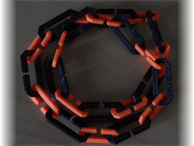 字母C 扁节链