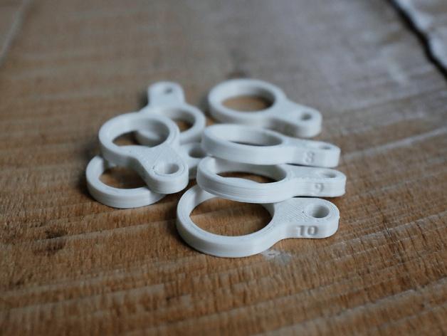 戒指尺寸量度环 3D打印模型渲染图