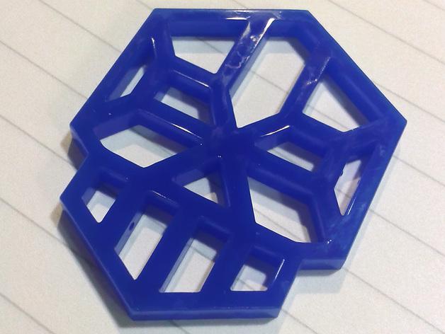 Ingress Interitus钥匙扣 3D打印模型渲染图