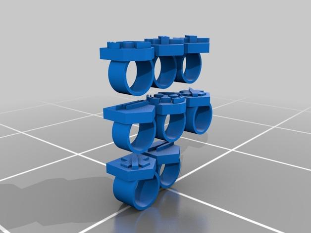 僵尸图标 戒指 3D打印模型渲染图