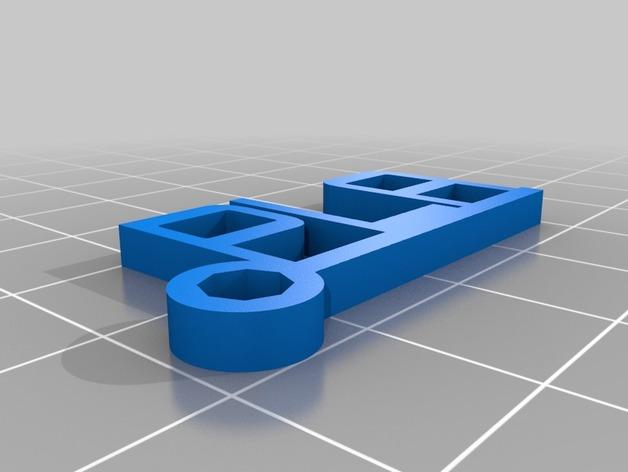 PLA字母吊坠 3D打印模型渲染图