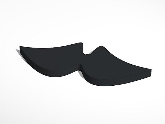 小胡子 3D打印模型渲染图