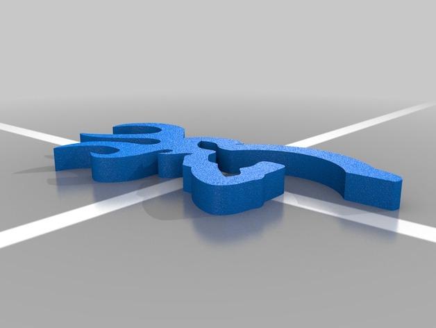 browning 商标标志 3D打印模型渲染图