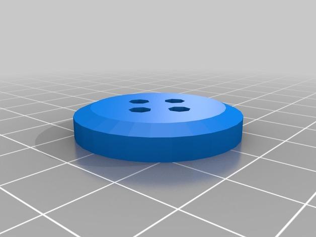 圆形纽扣 3D打印模型渲染图