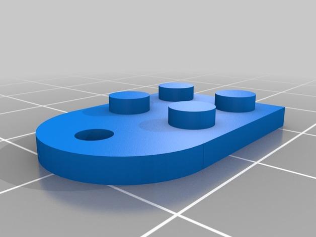 乐高积木 挂件 3D打印模型渲染图