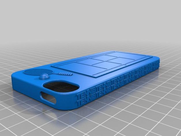 网球 iPhone5手机壳 3D打印模型渲染图
