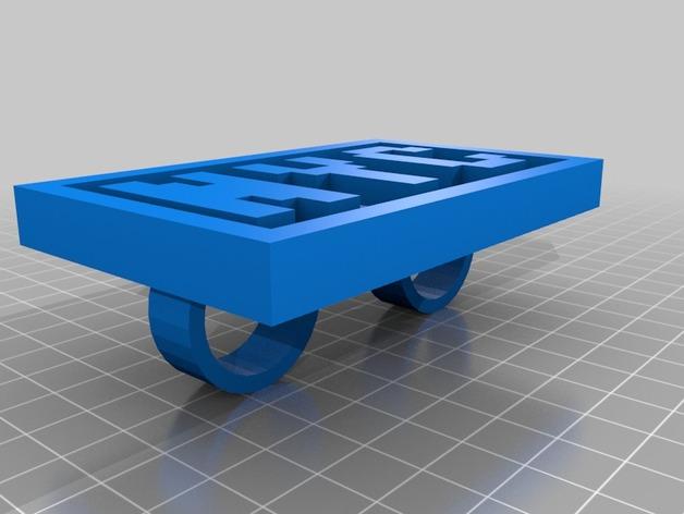 NYC字母 指节环 3D打印模型渲染图
