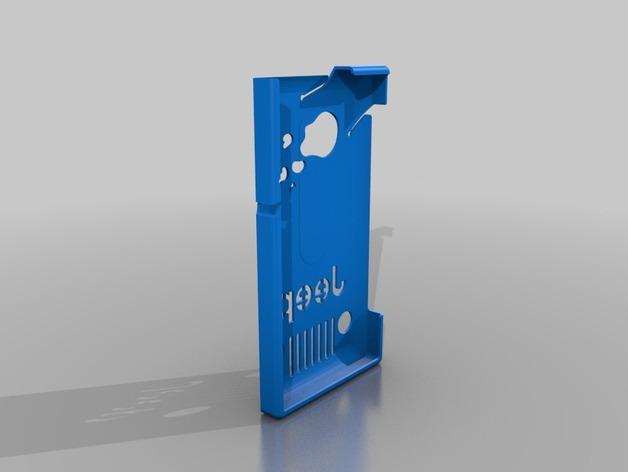Nokia Lumia 928吉普车图案 手机保护套 3D打印模型渲染图