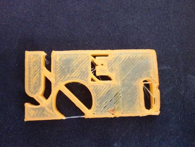 名牌 3D打印模型渲染图