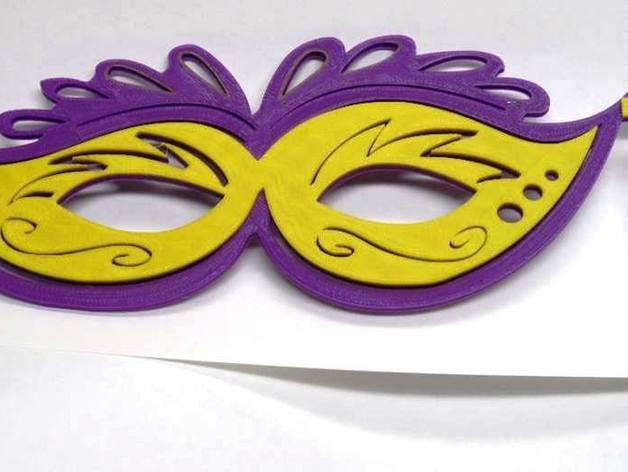 狂欢节面具 3D打印模型渲染图