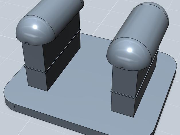 Fit Bit腕带夹 3D打印模型渲染图