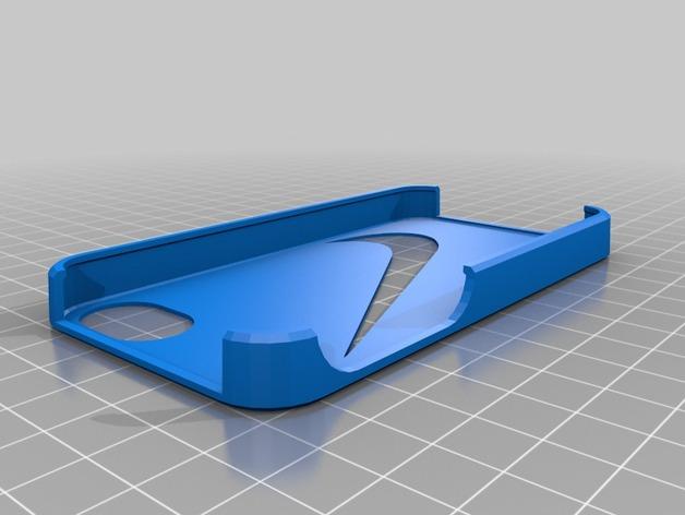nike耐克Iphone 4/4s手机保护壳 3D打印模型渲染图