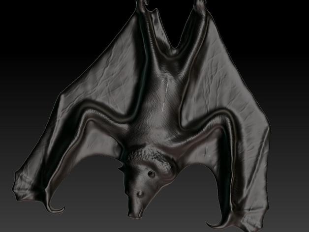 蝙蝠 项链坠 3D打印模型渲染图
