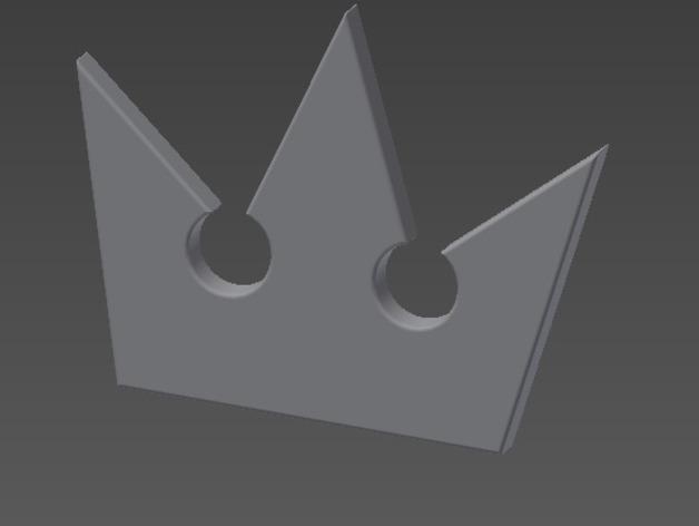王国之心 皇冠项链坠 3D打印模型渲染图