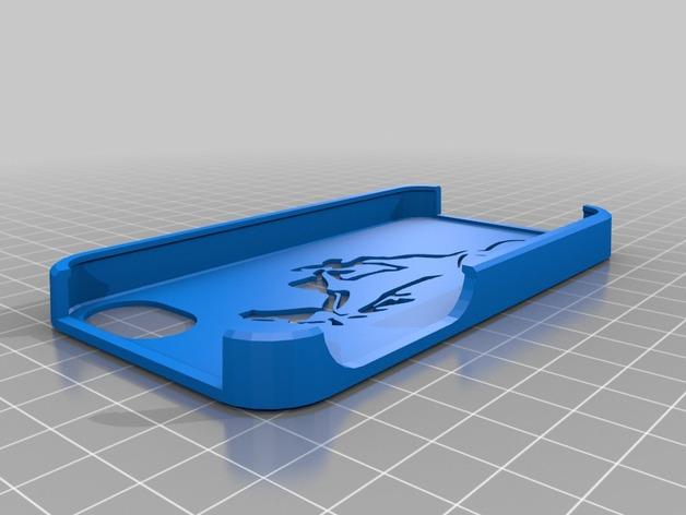 野马图形  IPhone 4保护壳 3D打印模型渲染图