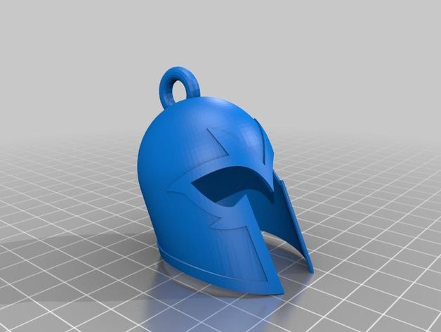 万磁王头盔 钥匙扣 3D打印模型渲染图