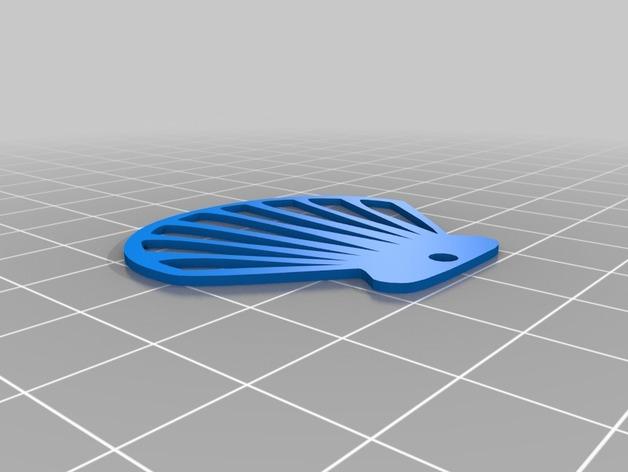 贝壳坠饰 3D打印模型渲染图