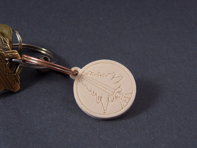 树形徽章钥匙链