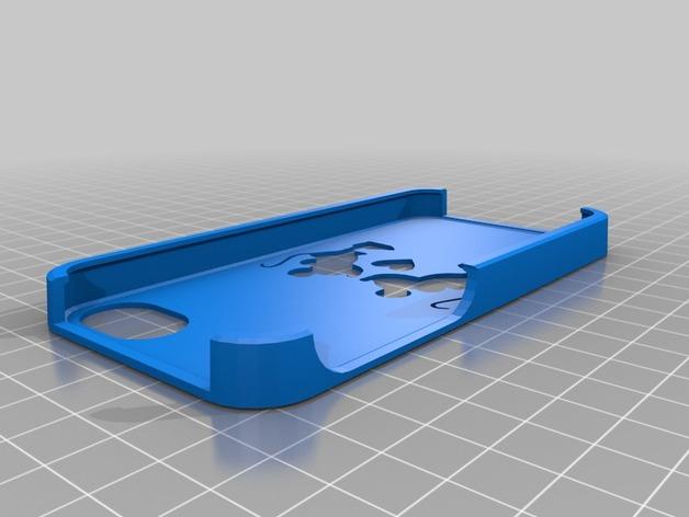 米奇和米妮iPhone5手机套 3D打印模型渲染图
